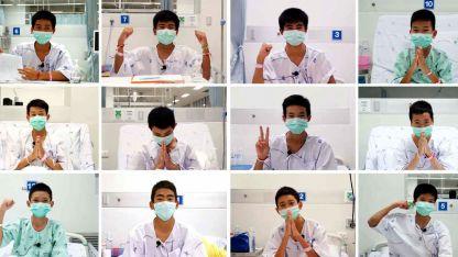 Desde el hospital, los chicos grabaron un video. Están bien, sólo con algunas infecciones respiratorias menores.