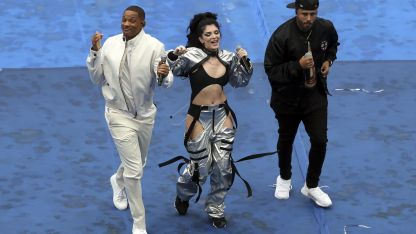 Will Smith, Nicky Jam y Era Istrefi en plena fiesta.