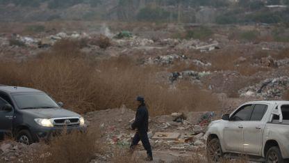 Cerca de la zona donde apareció el auto del empresario, fue que se desarrolló la búsqueda sin éxito.