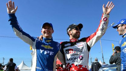 En Potrero de los Funes, los mendocinos Berni Llaver (izquierda) y Julián Santero (derecha) compartieron el podio.