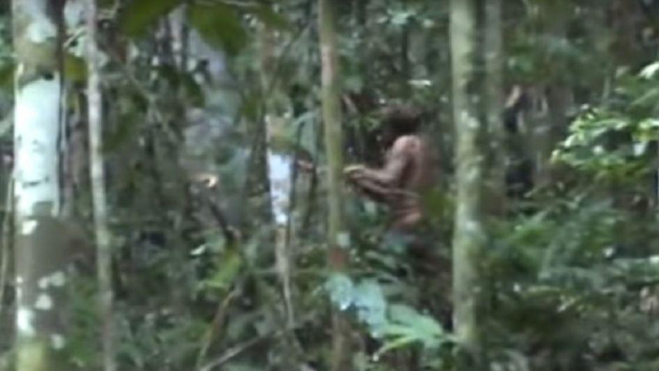 Graban al último sobreviviente de una tribu aislada en el Amazonas