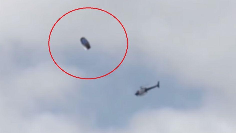 Video: aseguran que un helicóptero de la Policía interceptó a un OVNI