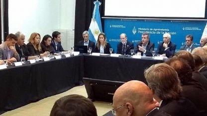 La reunión. Participaron empresarios y funcionarios.