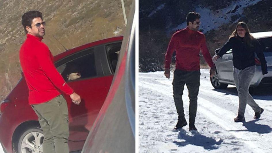 El actor Luciano Castro auxilió a una familia mendocina en Vallecitos
