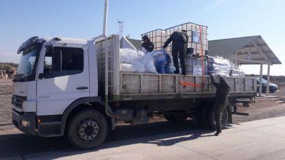 Intentaban transportar 600 kg de ácido sulfúrico desde Ugarteche a San Carlos.