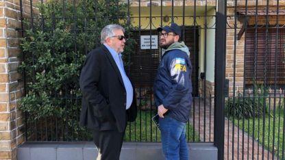 El fiscal Carlos Stornelli encabezó el allanamiento en la casa de Oscar Centeno.
