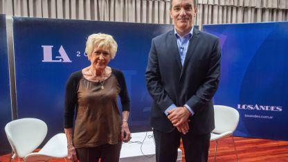 Alicia junto a Luis García, gerente general de Los Andes.