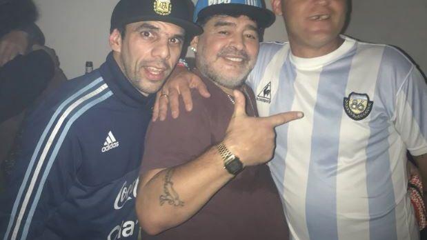Otra noche de descontrol de Diego Maradona: preocupantes imágenes en un boliche
