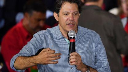 El ex alcalde de San Pablo, Fernando Haddad.