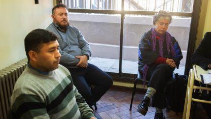 Macho y Blas durante el juicio
