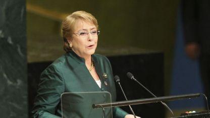 La socialista Bachelet, de 66 años, reemplazará al jordano Zeid Ra'ad Al Hussein.