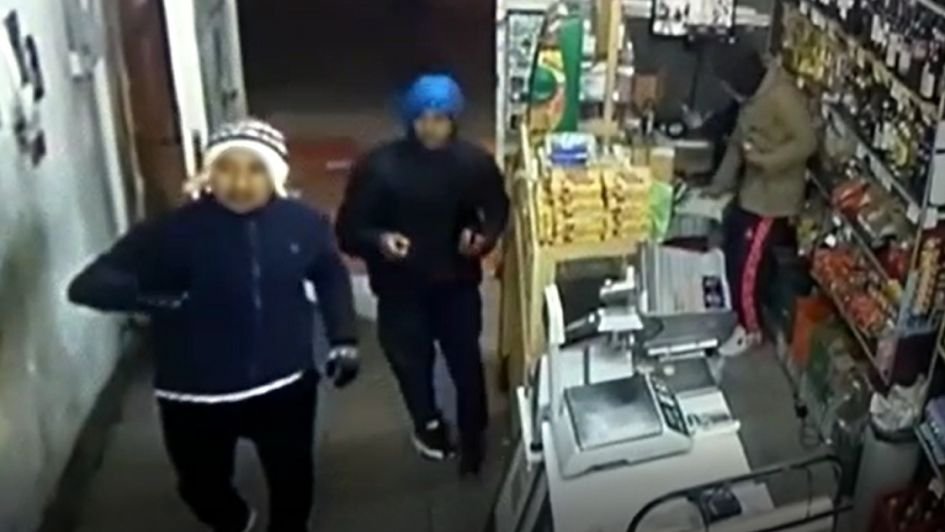 Video: cayeron tras quedar filmados mientras asaltaban un almacén en Las Heras