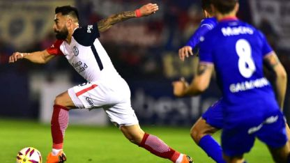 El ex Godoy Cruz y River, Ariel Rojas, tuvo un buen juego con la camiseta de San Lorenzo.