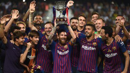 Messi alcanzó su título 33 y el primero como capitán del Barcelona.