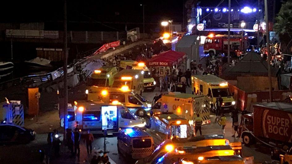 Caos: se desplomó un muelle en un festival de música