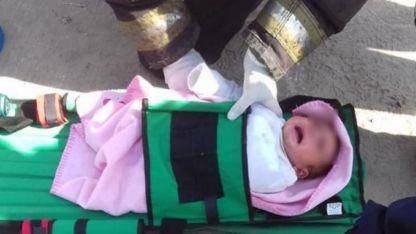 La beba fue hallada en buen estado de salud y luego fue hospitalizada.
