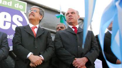 Uberti (derecha), junto a Julio De Vido.