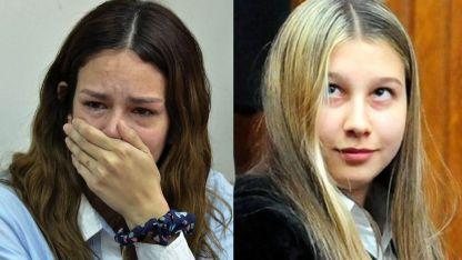 Julieta Silva (izquierda) enfrenta una condena de hasta 25 años de cárcel. Nahir Galarza (derecha) fue sentenciada a perpetua.