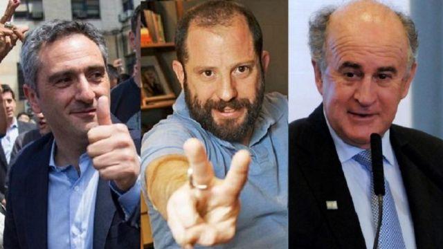 De izquierda a derecha: Larroque, Ottavis y Parrilli.