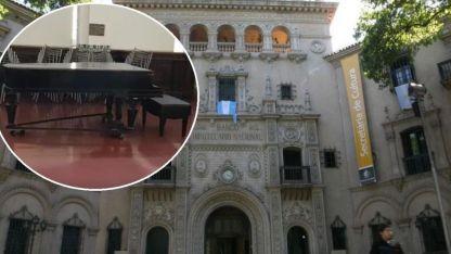 El piano de la Secretaría de Cultura de Mendoza se volvió viral tras un video en el que se lo ve