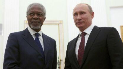 Llegó de las entrañas de la ONU, como Putin del Estado ruso.