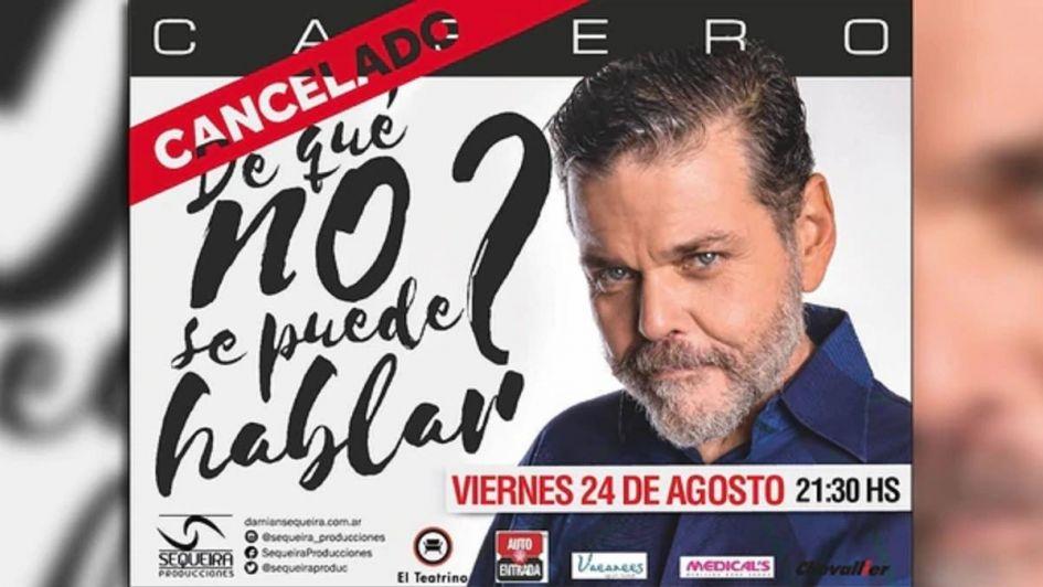 Por sus declaraciones, en Salta cancelaron la obra de Alfredo Casero