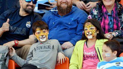 Las familias fueron las que se instalaron para disfrutar del partidazo que jugaron Los Pumas.