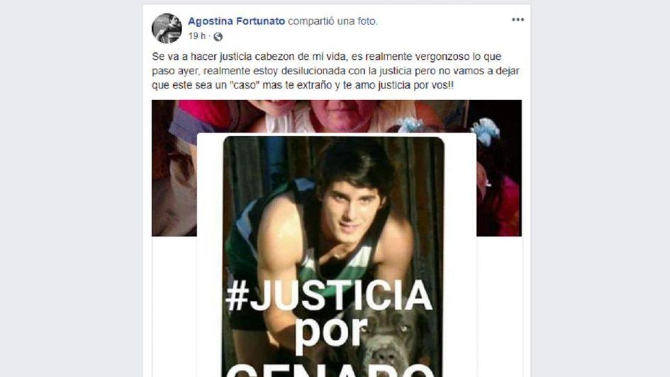 El dolor de la hermana de Genaro Fortunato: