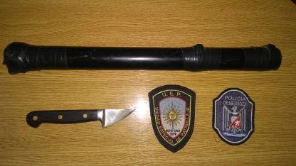 El arma clanca y el caño que pertenece a una escopeta casera.
