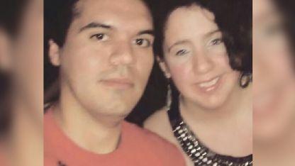 Juan Martín Carleris (25) y  Natalia Samaniego (22), la joven hallada muerta.