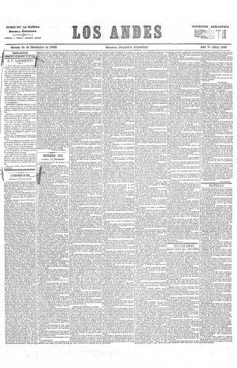 El editorial sobre Sarmiento que cumple 130 años