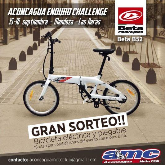 Alexis Morales ganó una bicicleta eléctrica Beta B52