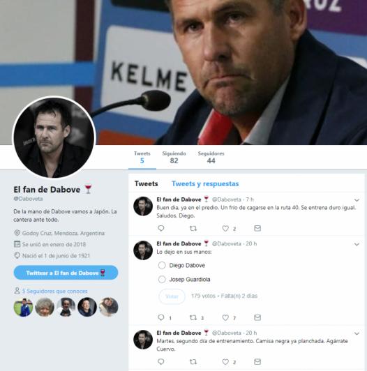 ¿El nuevo influencer del Tomba? Diego Dabove también tiene su fan en Twitter