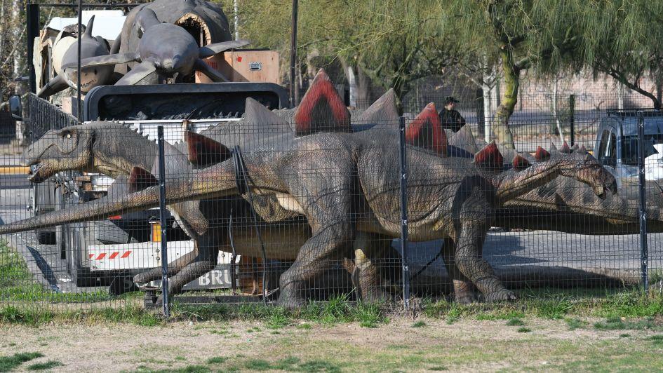 Llega Tecnópolis a Mendoza: dinosaurios sueltos en el parque Central