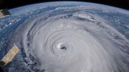Los satélites muestran la magnitud de la tormenta que va sobre el mar