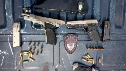Las pistolas secuestradas en el barrio Chile.