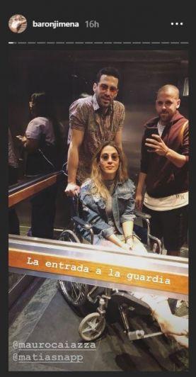 Jimena Barón se dio un golpazo en un ensayo del Aquadance y terminó en el hospital