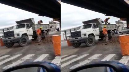 La municipalidad de Olavarría explicó la escena.
