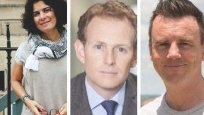 Laura Saravia, Dan Rivers y Barnaby Green, los periodistas que fueron detenidos en Venezuela.