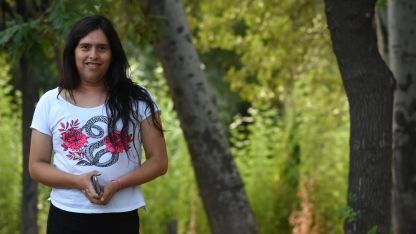 Valentina tiene secundario y estudia enfermería pero no logra conseguir trabajo formal, por eso apoya el cupo.