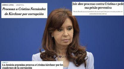 Los medios extranjeros replicaron el procesamiento de CFK.