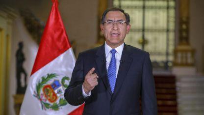 El presidente Martín Vizcarra durante su discurso al país y pedido al Congreso.