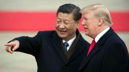 """El presidente chino Xi Jinping, junto a su par Donald Trump, cuando todo era """"buena onda"""". Hoy están enfrentados."""