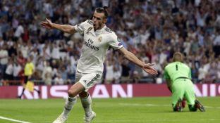 Bale festeja el segundo gol del Real Madrid.
