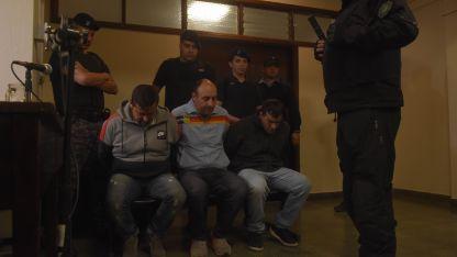 Minati y Manzano (centro) fueron condenados pero Quiroga resultó absuelto.