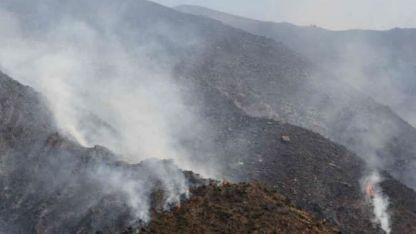Ayer se registraron pequeños incendios en la zona pedemontana.