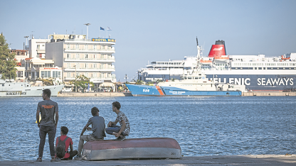 Olvidados. Cada día llegan a Lesbos cientos de inmigrantes, en su mayoría, de Turquía.
