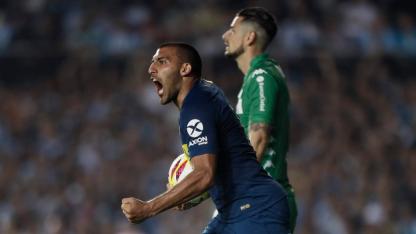 Wanchope Ábila marcó el descuento para Boca.
