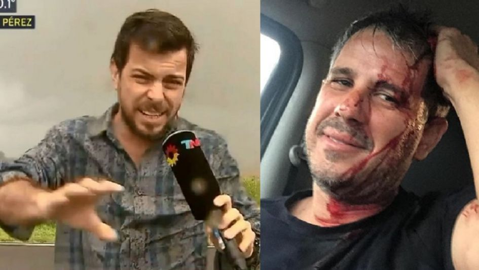 La accidentada cobertura de José Bianco en pleno granizada
