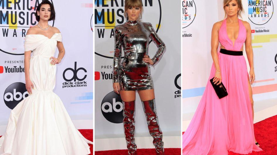 Dua Lipa, Taylor Swift y Jennifer Lopez, las favoritas en los American Music Awards